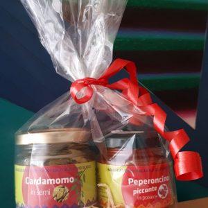 Confezione regalo da 2 vasetti di spezie e miscele