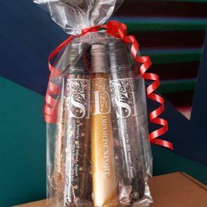 Confezione regalo 3 flaconi di spezie e miscele