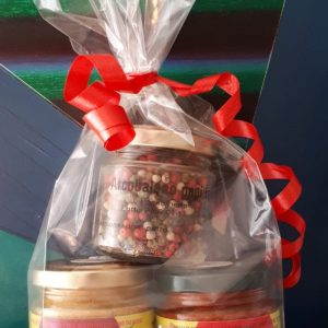 Confezione regalo da 3 vasetti di spezie e miscele